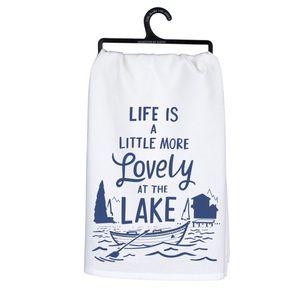 PRIMITIVES BY KATHY DISH TOWEL LIFE LOVELY AT LAKE
